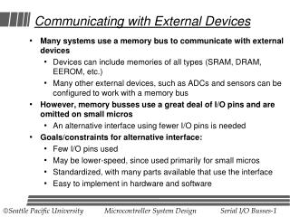 Communicating with External Devices