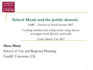 School Meals and the public domain