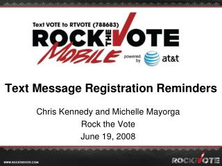 Text Message Registration Reminders