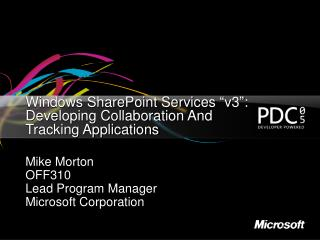 Windows SharePoint Services  v3 : Developing Collaboration And Tracking Applications