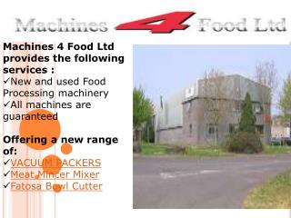 Buy Online Food Machinery