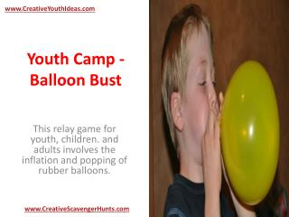 Youth Camp - Balloon Bust