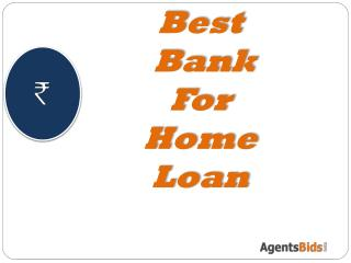 Best Bank for home loan