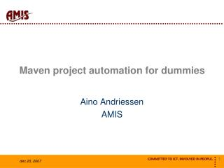 Maven project automation for dummies