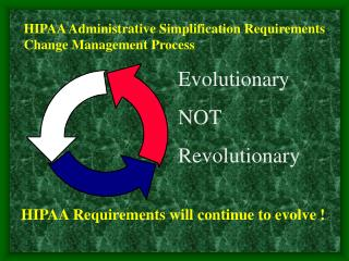 HIPAA Administrative Simplification Requirements Change Management Process