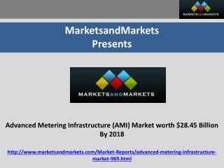 Advanced Metering Infrastructure (AMI) Market |Smart Meters