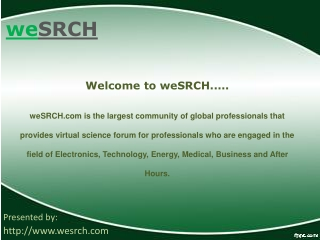 weSRCH Guide