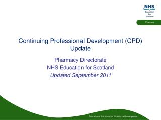 Continuing Professional Development CPD  Update