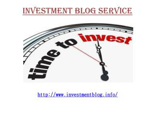 Investment Blogs