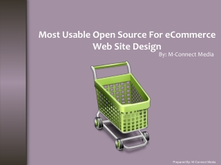 Top Open Source Tool For eCommerce Web Site Design