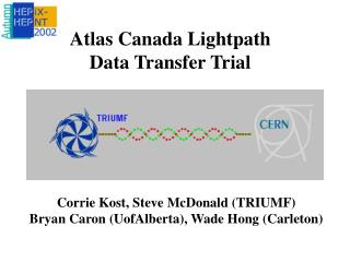 Atlas Canada Lightpath  Data Transfer Trial