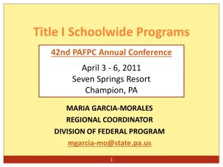 Title I Schoolwide Programs