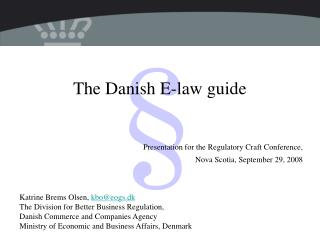 The Danish E-law guide