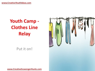 Youth Camp - Clothes Line Relay