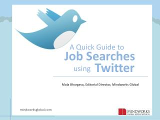 A quick guide to twitter job searches