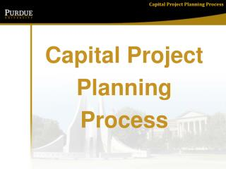 Capital Project  Planning  Process
