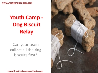 Youth Camp - Dog Biscuit Relay