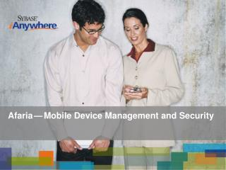 Afaria — Mobile Device Management and Security