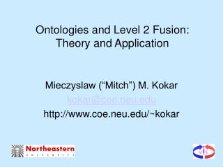 Ontologies and Level 2 Fusion: Theory and Application