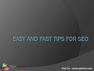 Tips : Easy and Fast Tips For SEO