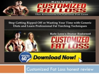 customized fat loss a scam ? or not