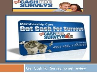 get cash for doing surveys get