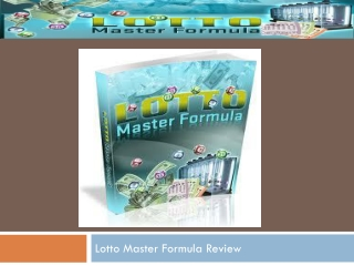 Lotto Master Formula Review