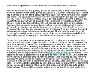Guidance Provided By Consumer Reports Best Rated Mattress