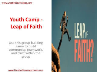 Youth Camp - Leap of Faith