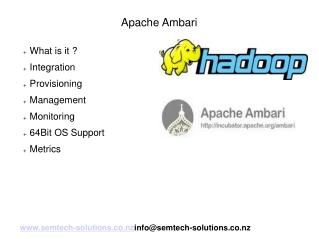 An introduction to Apache Ambari