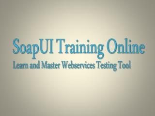 Web service testing tutorial