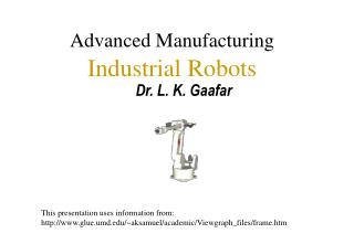 Advanced Manufacturing Industrial Robots