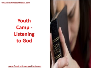 Youth Camp - Listening to God