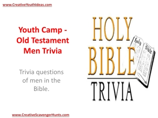 Youth Camp - Old Testament Men Trivia