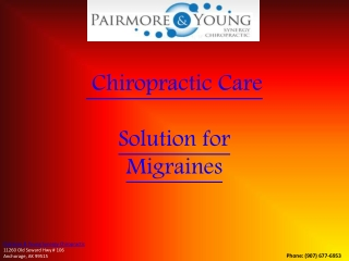 Chiropractic Care - Solution for Migraines |(509) 466-1200