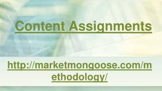 Content assignments