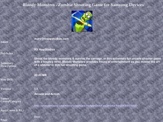Bloody Monsters - Zombie Shooting Game for Samsung Devices