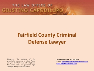 Fairfield County Criminal Defense Lawyer