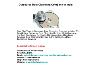 Outsource Data Cleansing Company in India