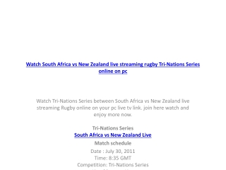 watch south africa vs new zealand live streaming