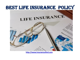 Best Insurance Policy Service