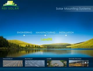 Landfill Solar Racking by RBI Solar