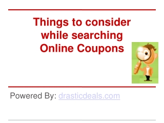 Online Coupon Search