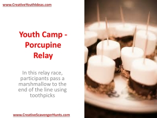 Youth Camp - Porcupine Relay