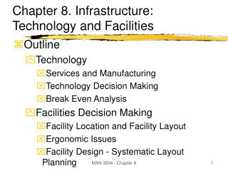 Chapter 8. Infrastructure: Technology and Facilities