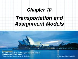 Transportation and Assignment Models