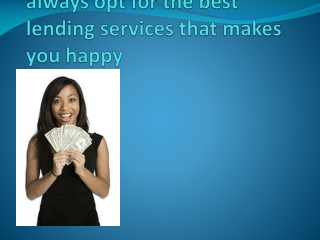 How to pick best lending service