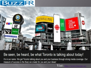 BuzzPR - Public Relations Toronto   PR Agency