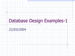 Database Design Examples-1