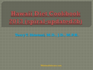 Hawaii Diet Cookbook 2013 (spiral)